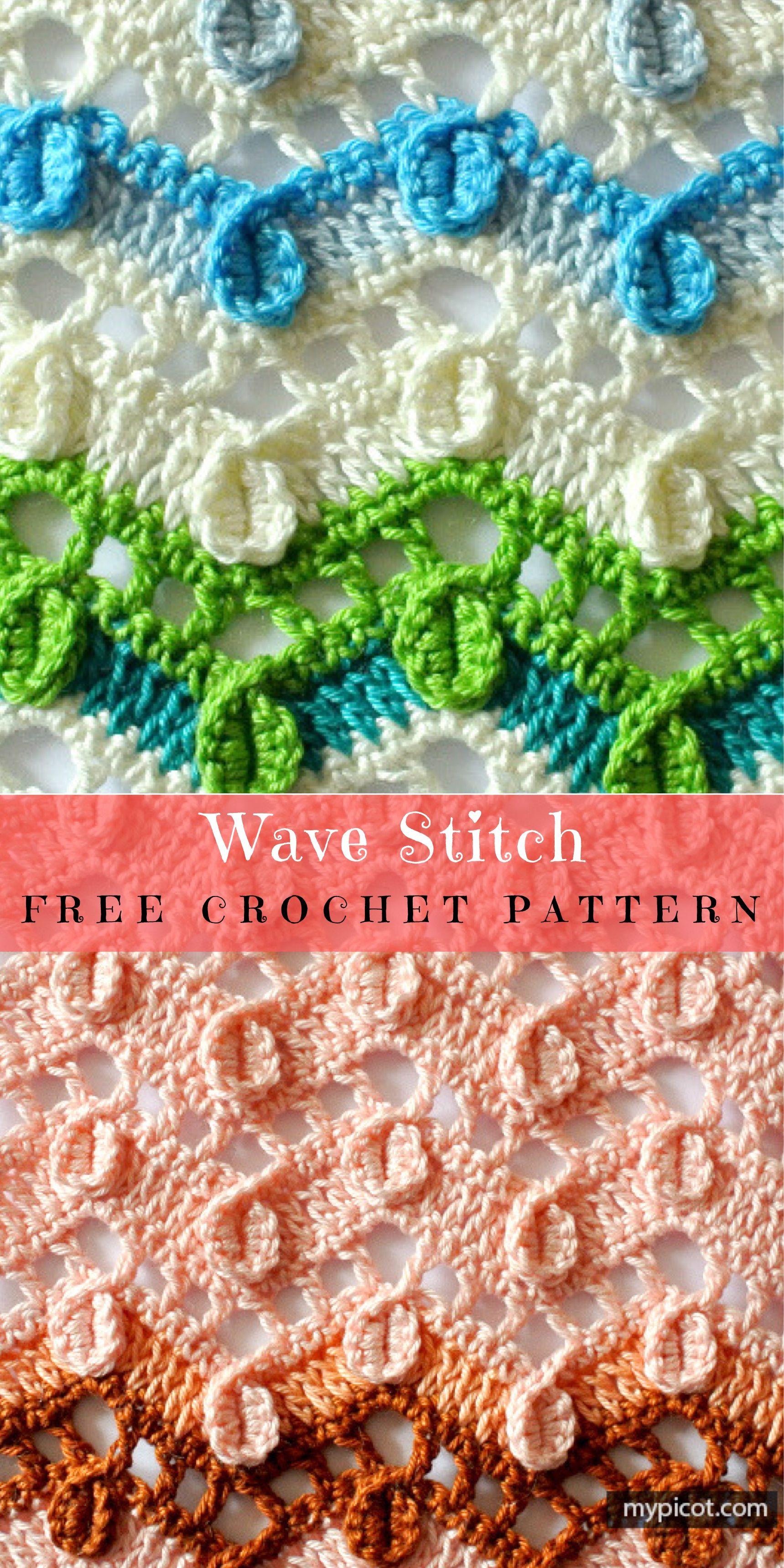 Wave Stitch Free Crochet Pattern | Free crochet, Yarns and Authors