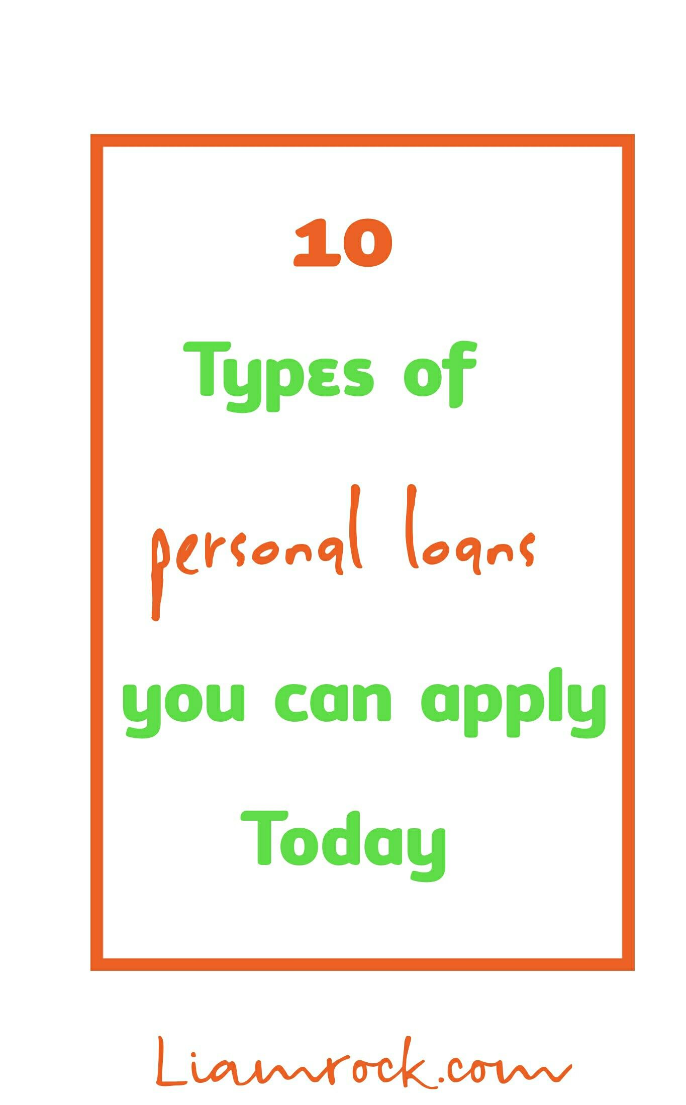 Did You Know There Are 10 Types Of Personal Loans You Can Apply For Personal Loans Debt Consolidation Loans