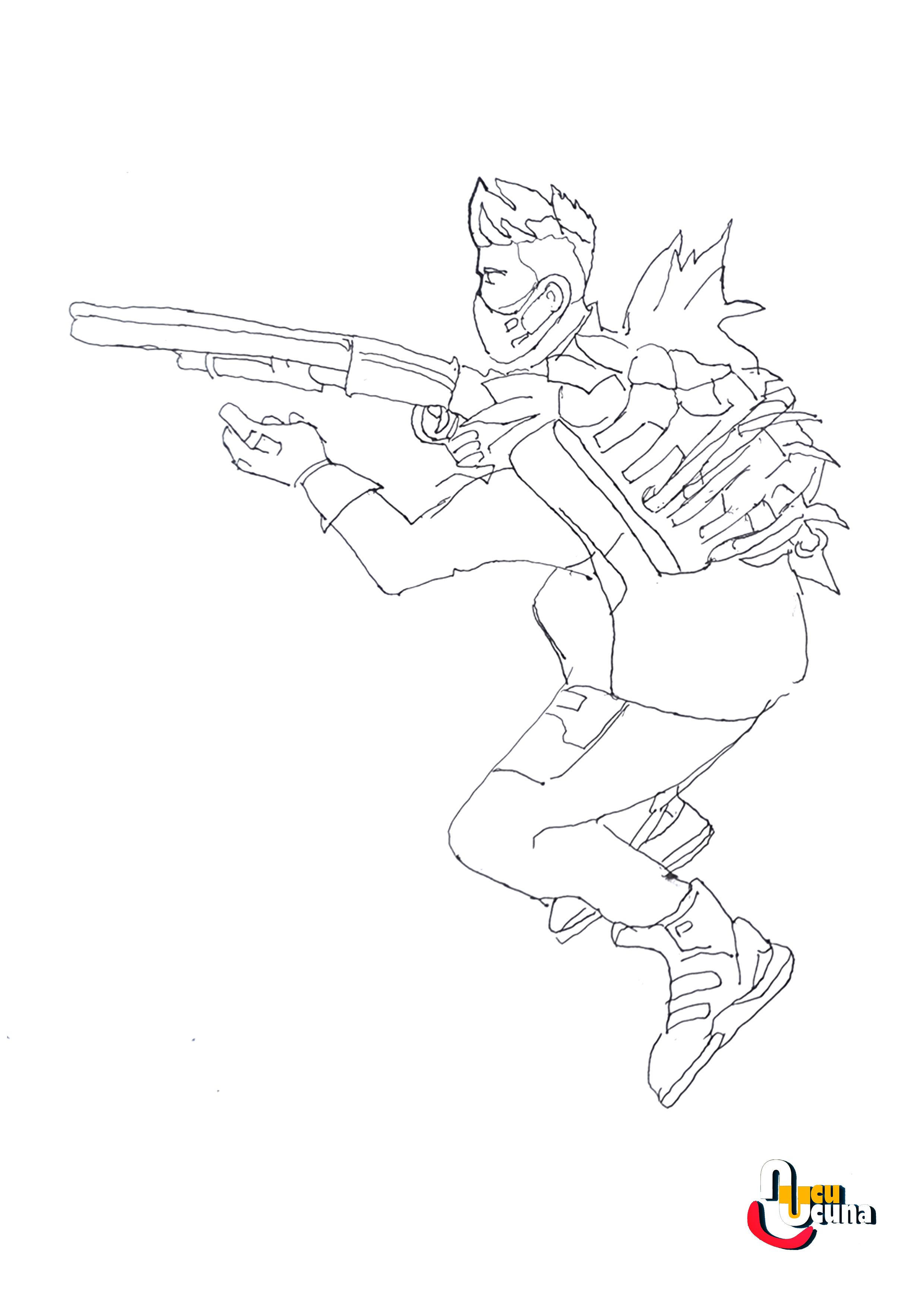 Omega Fortnite Gun Coloring Pages