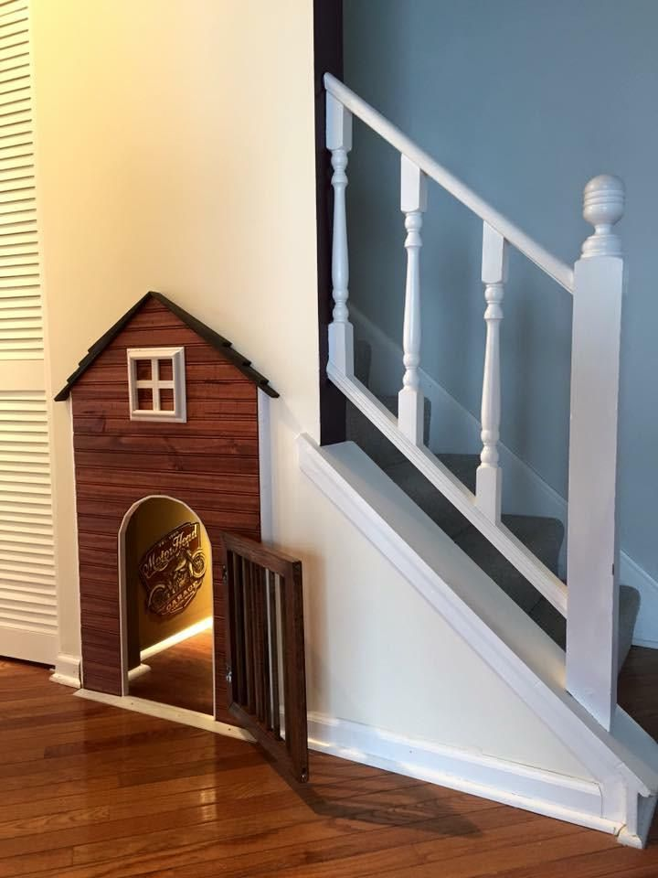 I made a dog house under my stairs in 2020 | Under stairs ...