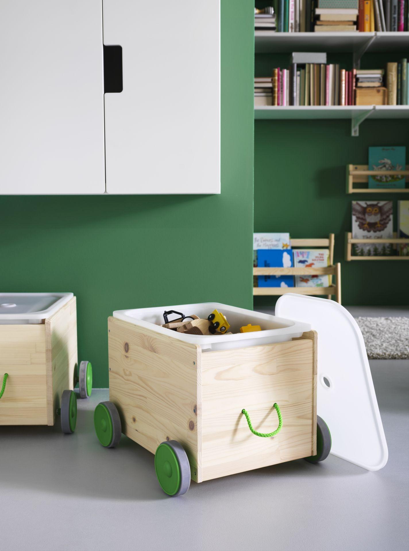 Flisat speelgoedopberger ikeacatalogus nieuw 2017 - Toy storage furniture living room ...