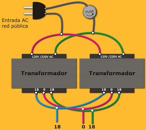 Como Calcular Un Transformador De Voltaje Transformadores Amplificador Circuito Electrónico