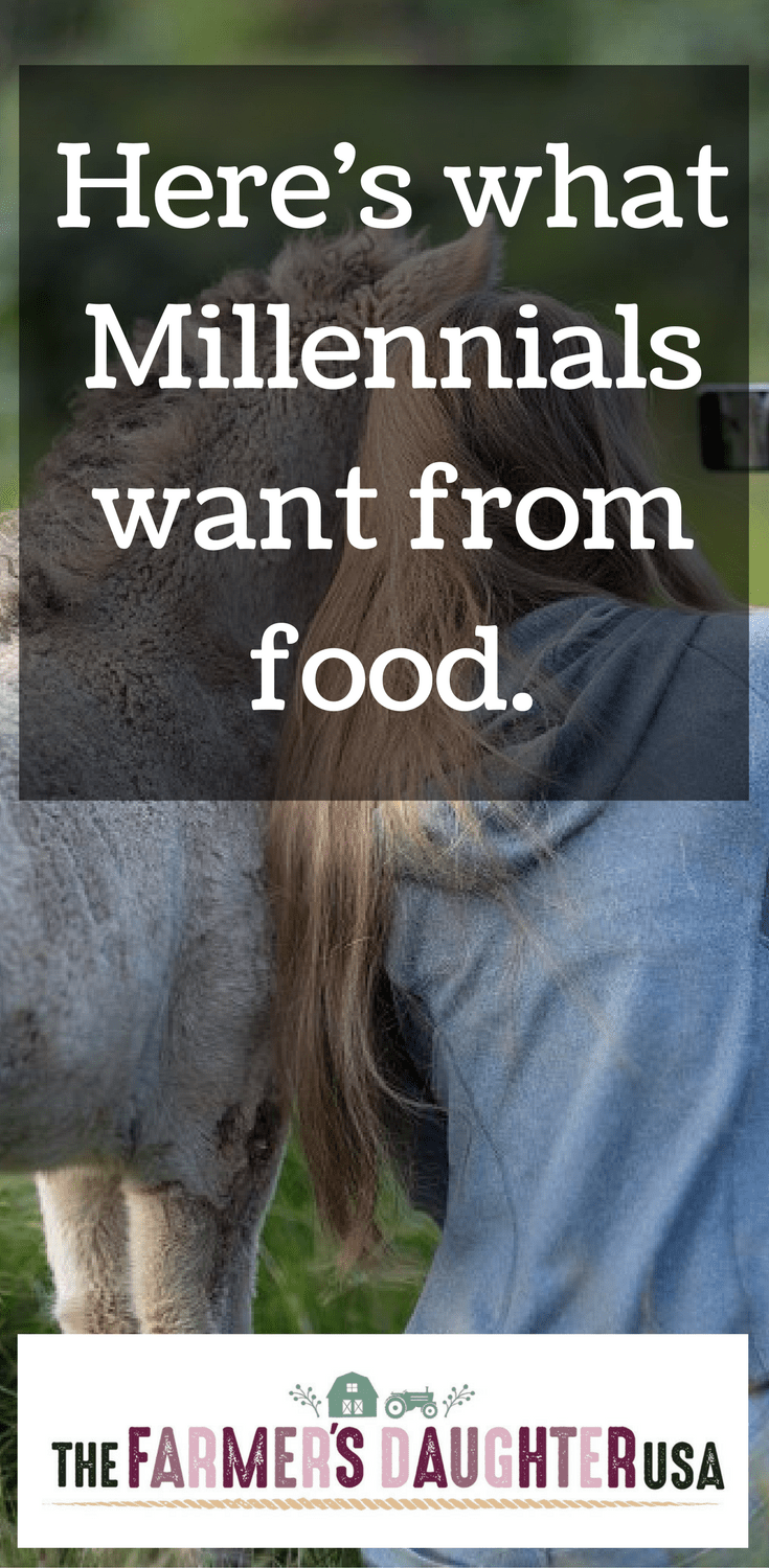 The USDA performed a survey of Millennials and food trends compared to older generations. There was one word used to describe what Millennials want from food.