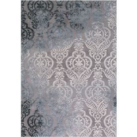Concord Global Toledo Soft Gray Rectangular Indoor Machine-Made Oriental Area Rug (Common: 8X11; Actual: 7.83-Ft W X 10.