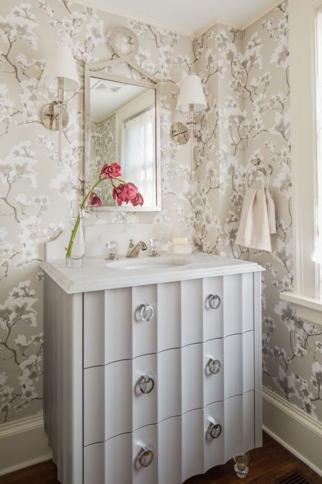 Custom Bathroom Vanity Legs lavette - powder room - bathroom - custom scallop-edged vanity
