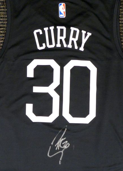 bb667a6ee9d Golden State Warriors Stephen Curry Autographed Fanatics The Town Jersey  Beckett BAS  D75371