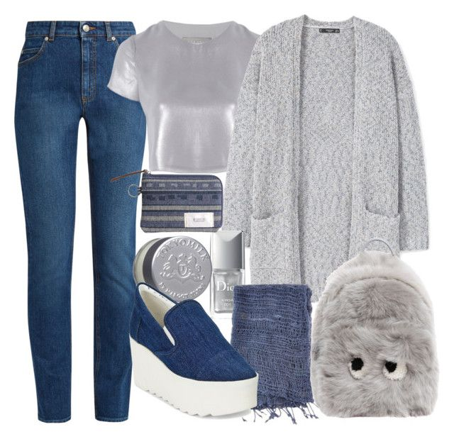 """""""blue and grey"""" by georgina-mitjans ❤ liked on Polyvore featuring Alexander McQueen, Related, MANGO, Christian Dior, Lulii, TokyoMilk, Anya Hindmarch, Kendall + Kylie and M.GRIFONI DENIM"""