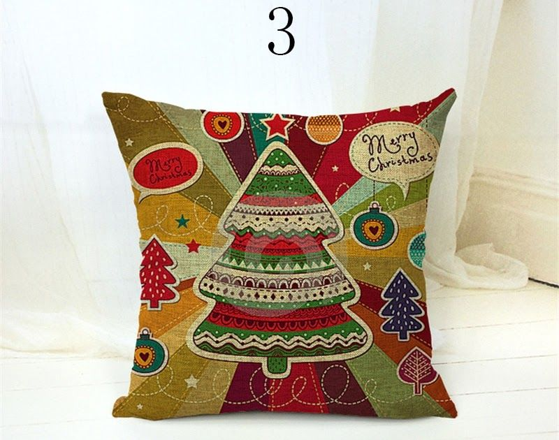 Sale Christmas Cushion Cover Red Old Man Decorative Pillows Xmas Ambience Square Pillow Case Sofa Home Chri Christmas Cushion Covers Christmas Cushions Pillows