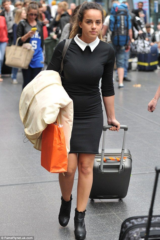 Georgia May Foote, pictured on Sunday, was waiting to film a scene for Coronation Street when she reportedly collapsed on Friday...