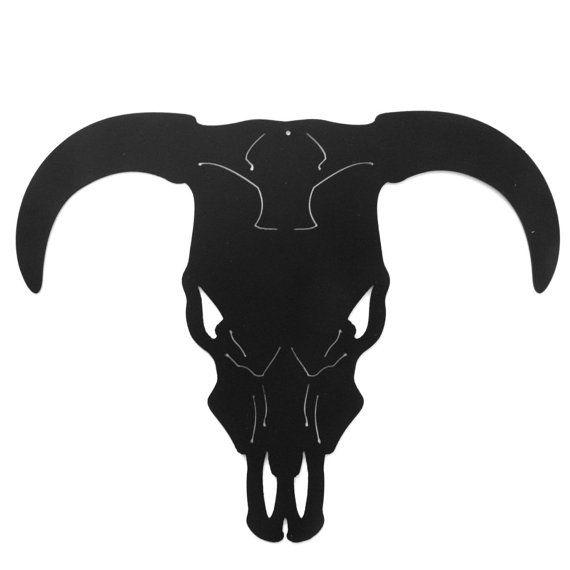 Long Horn Steer  Bull  Cow  Skull   wood cut out Laser Cut