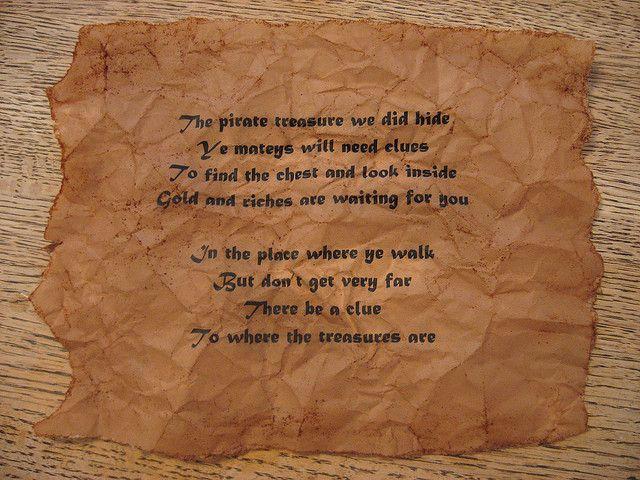 pirates treasure map clues pirate101 treasure map mailer