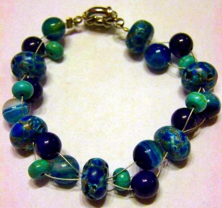 Turquoise, Lapis Lazuli & Blue agate