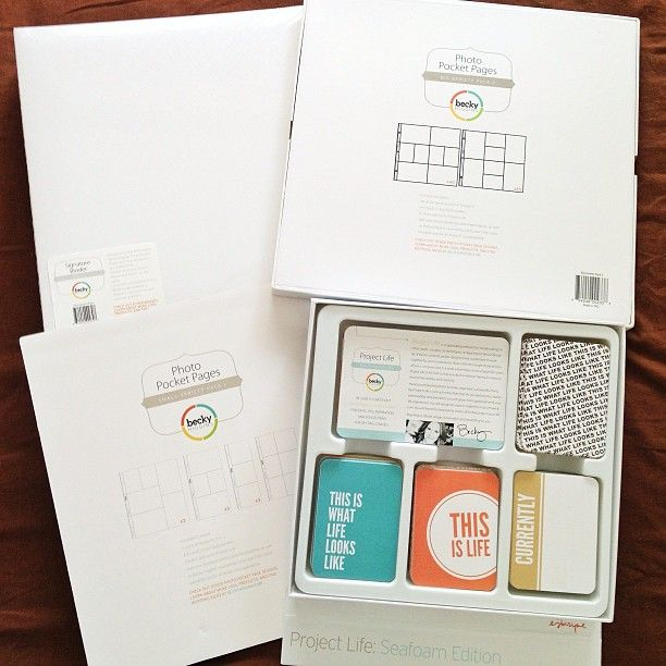 SnapWidget   I've received these #projectlife white signature binder, big pack & small variety protectors & the Seafoam last week from @beckyhigginsllc! Love them! Thank you so much! Special thanks to @pigflyhighhigh for making this happened!