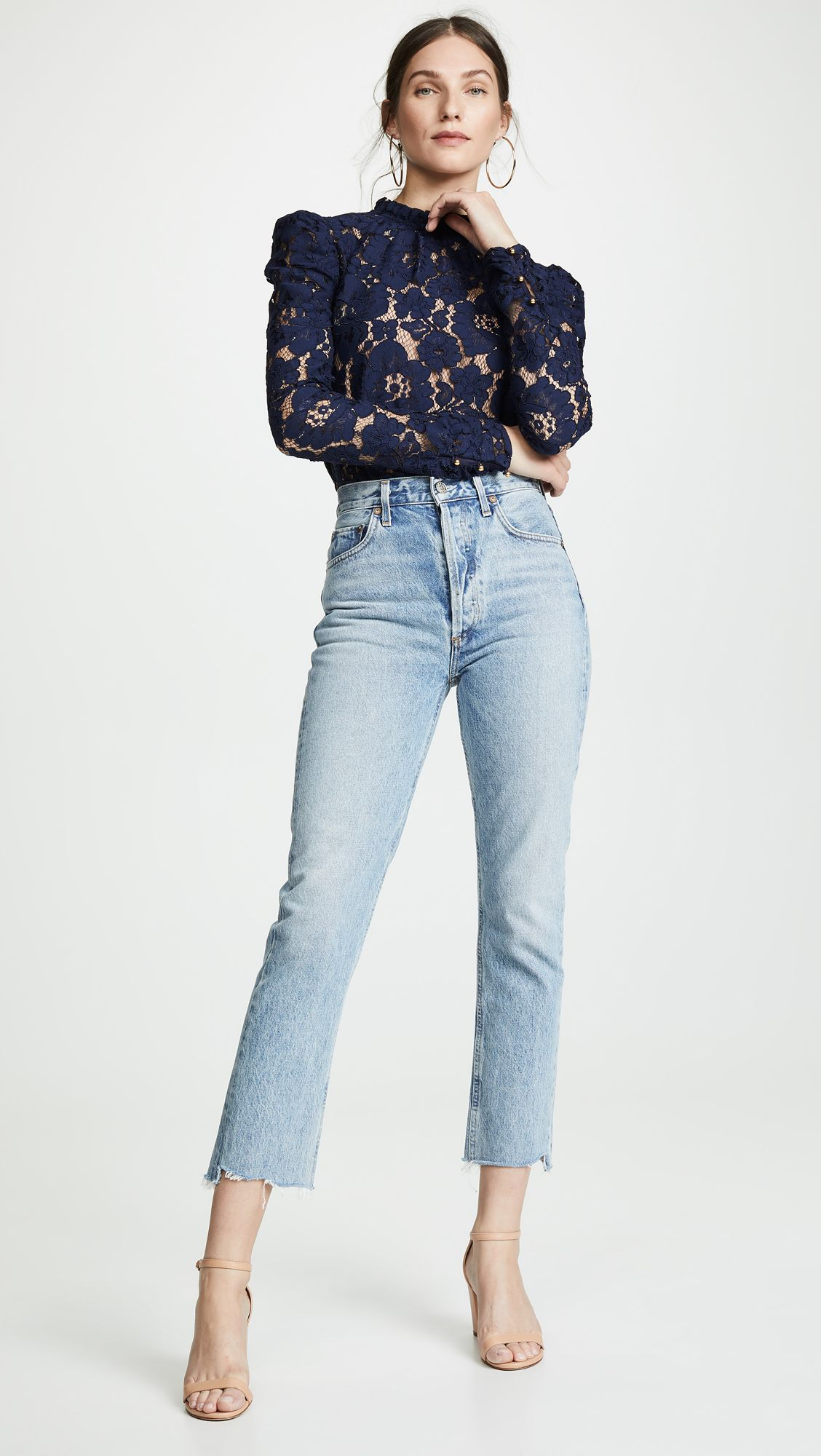 2975b6b9e1fafb Emma Puff Sleeve Lace Top | outfit ideas I just my style in 2019 ...