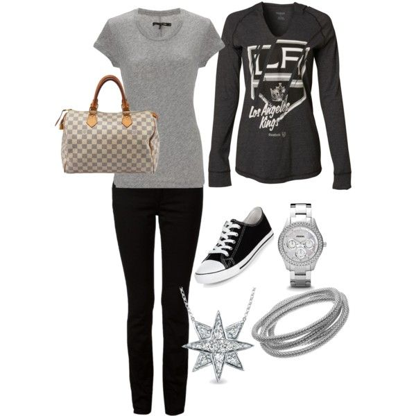 Untitled #27 by ntourk on Polyvore featuring polyvore fashion style rag & bone Reebok T By Alexander Wang Louis Vuitton Apt. 9