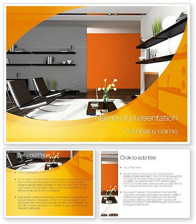 Home interior design powerpoint template with home - Interior design presentation layout ...