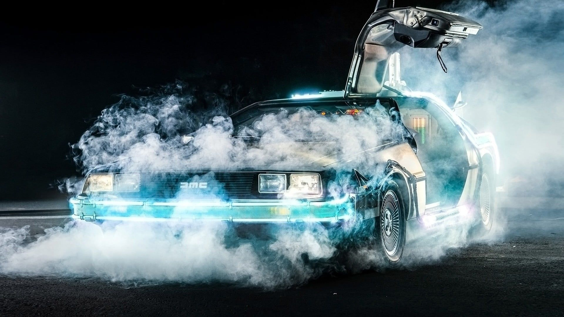 Green Vehicle Wallpaper Back To The Future Delorean Time Travel