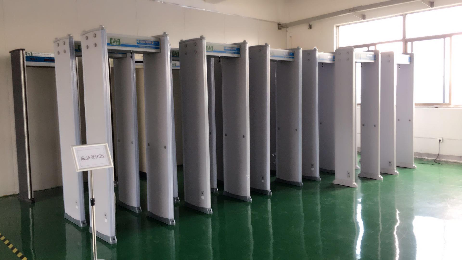 Workshop Corner Of Walk Through Metal Detector Security Gate Walk Through Metal Detector Inspection Mirror Metal Detector