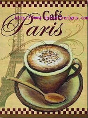 Paris Cafe tin sign http://www.chinatinsigns.com
