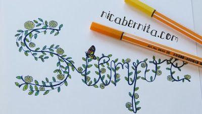 Doodle Art Letras Decoradas Con Flores Personaliza Tus Cuadernos Y Proyectos De Manualidades Doodle Manualidades Letras Decoradas