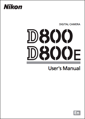 Nikon D800/D800E user's manual now available for download