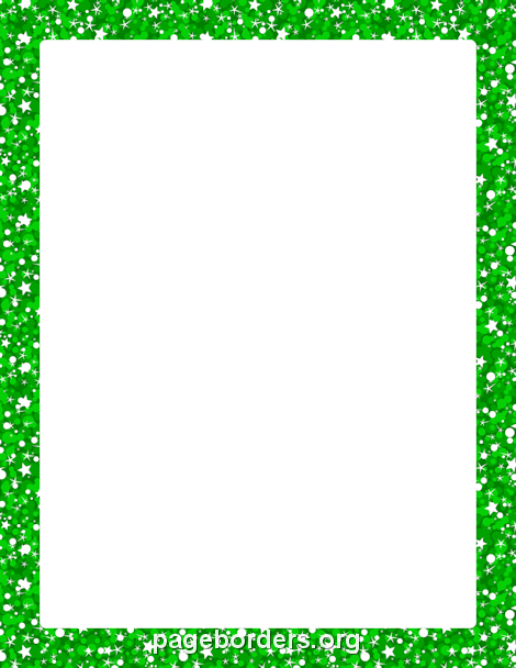 Printable green glitter border. Use the border in ...