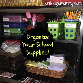 Organized School Supplies! Make it easy to find and use to save time and prevent chaos during homework time.