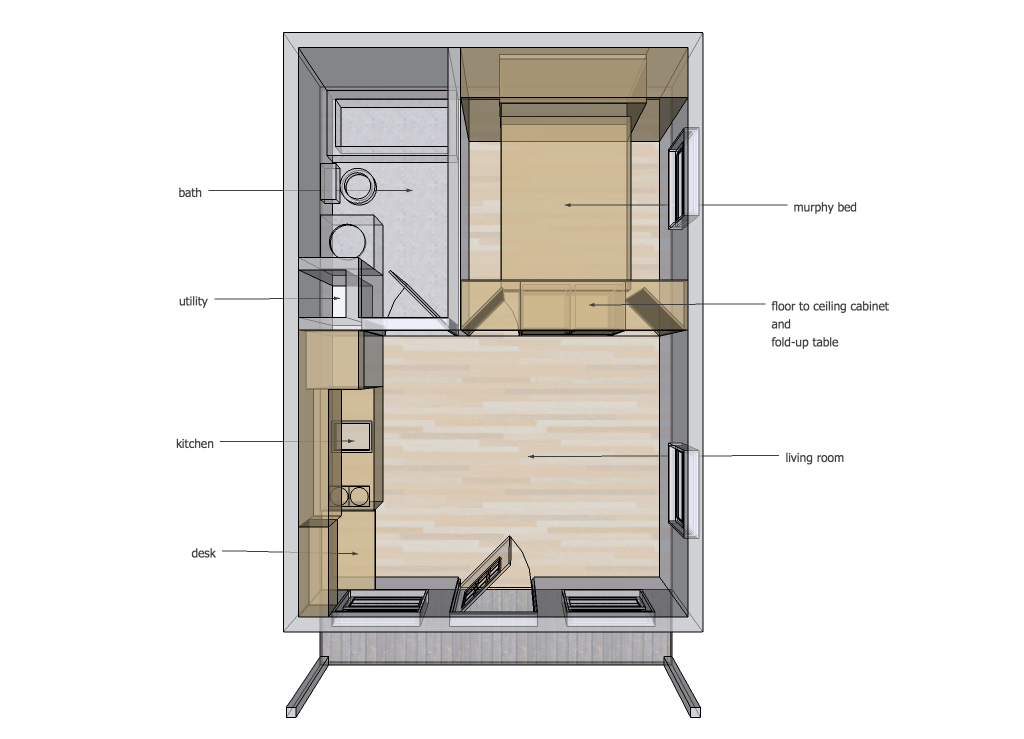 find this pin and more on homes cabin murphy bed down x interior space ideas tiny house design