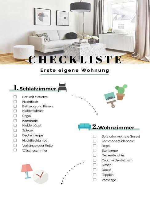 Erste eigene Wohnung einrichten: Checkliste, Ideen & Tipps