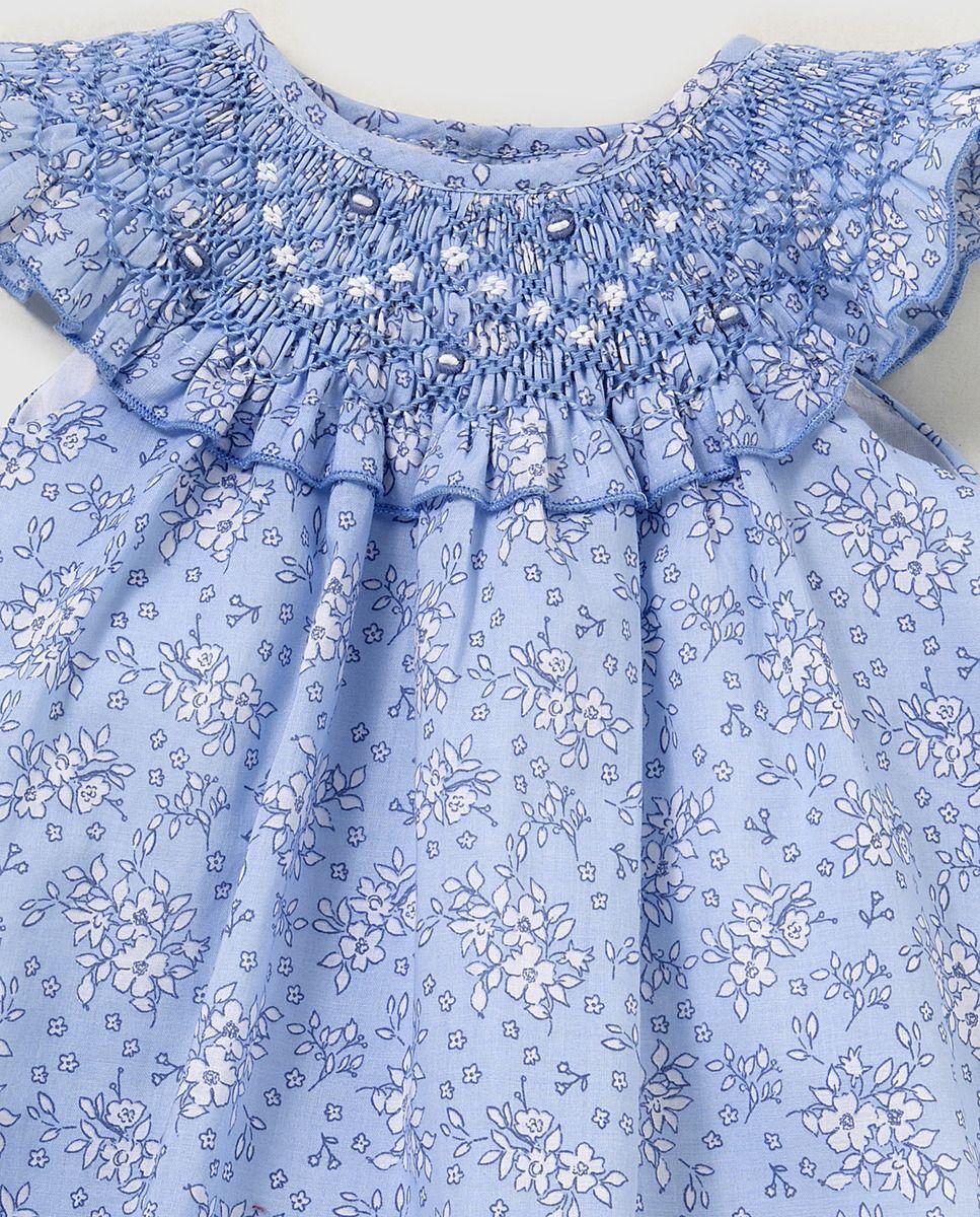 558a65b64 Vestido smock de bebé niña Dulces en azul · Dulces · Moda · El Corte Inglés