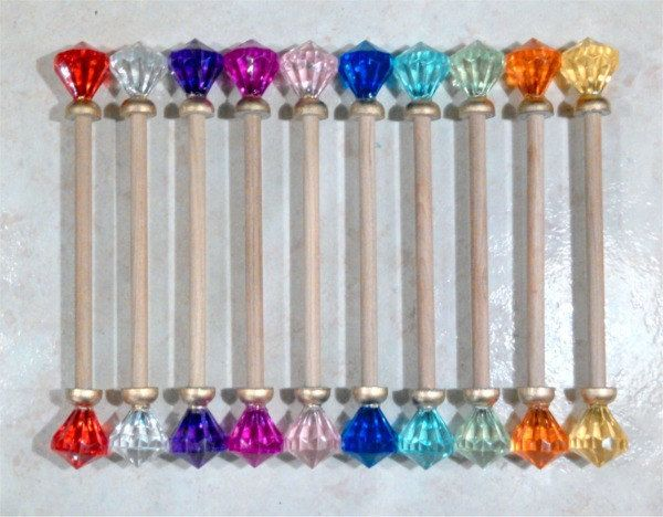 Diamond Scroll Finials Rods by InkCurves on Etsy princess party
