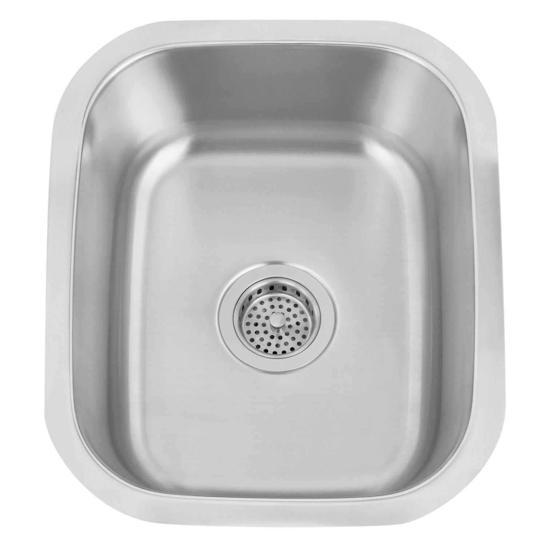"""18"""" Infinite Medium Stainless Steel Undermount Bar Sink"""
