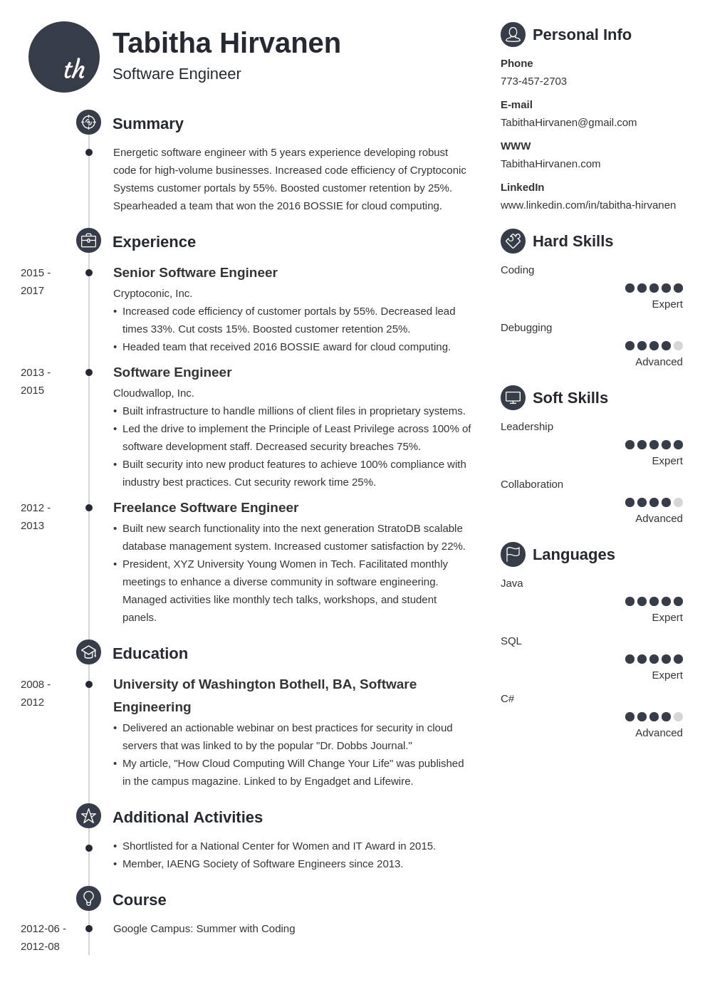 software engineer resume template primo in 2020 Job