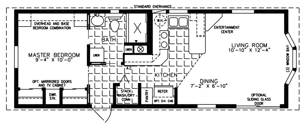 The Imperial Cottage Park Model Home Floor Plan