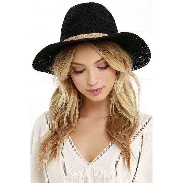 Fading Light Black Fedora Hat (€18) ❤ liked on Polyvore featuring accessories, hats, black, fedora hat and brimmed hat