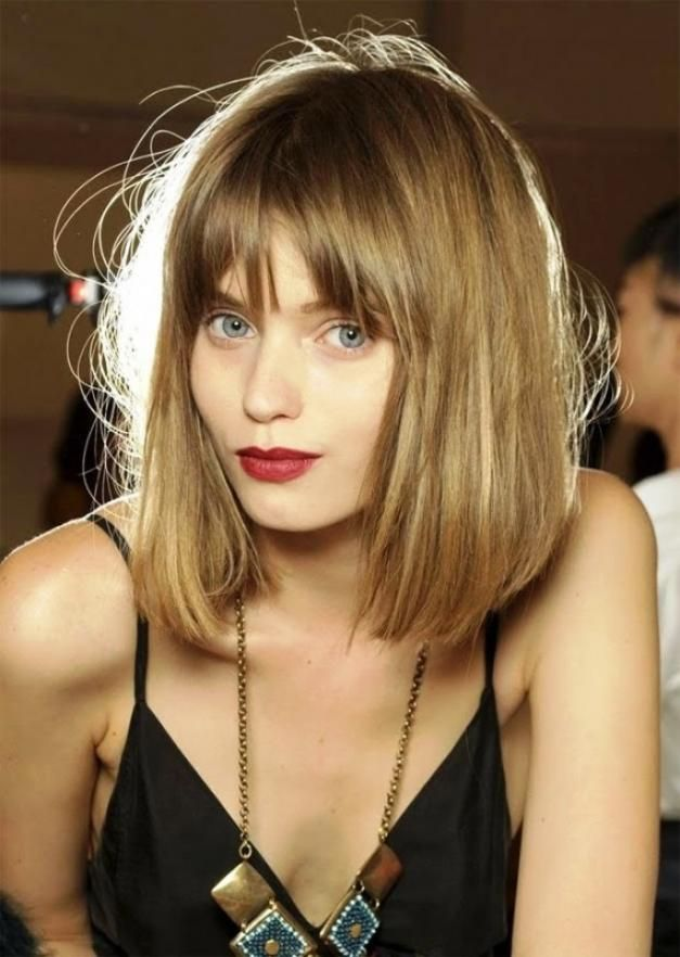 Medium Length Bob Hairstyles With Bangs For Fine Hair Cute Easy