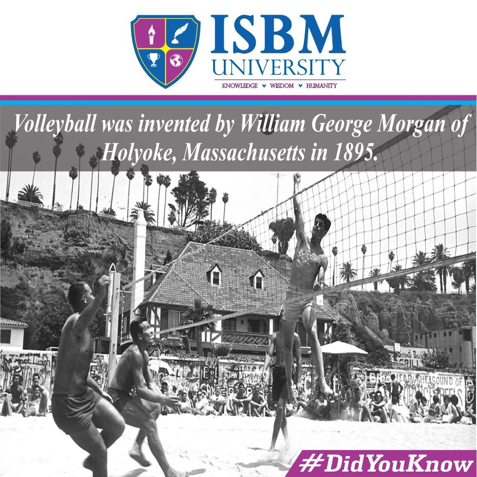 Didyouknow The Game Of Volleyball Originally Called Mintonette Was Invented In 1895 By Williamg Morg Springfield College Knowledge And Wisdom Inventions