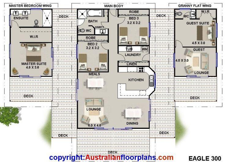 8m x 8m granny flat floorplan - Google Search | Architecture ...