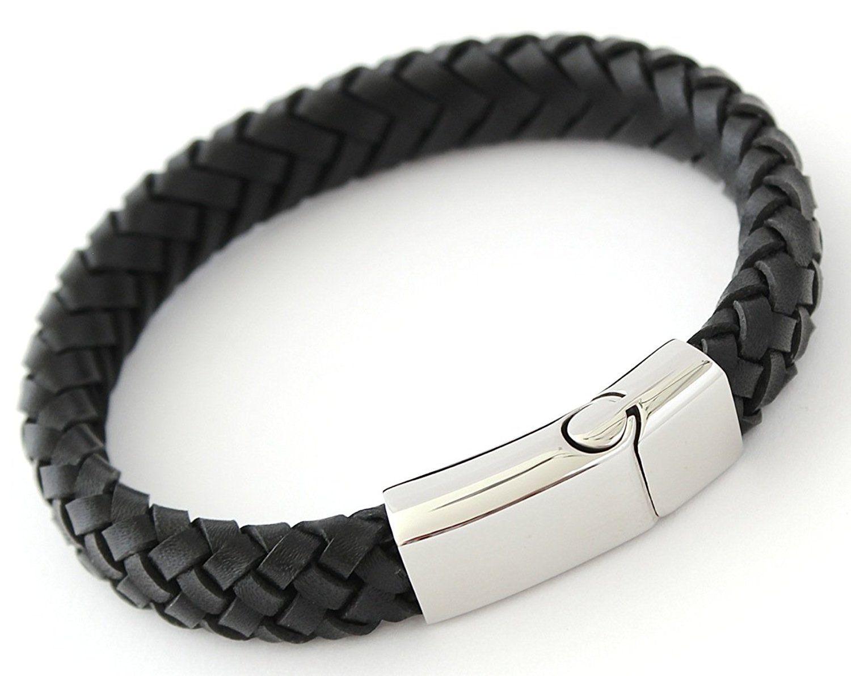 Mens Bracelet Leather Online Designs Bracelets Designer Braided Silver