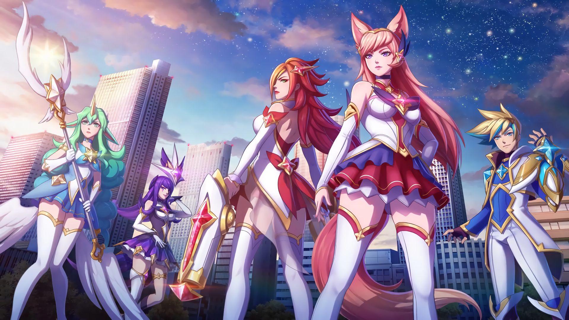 A New Horizon - Star Guardian Ahri, Soraka, Miss Fortune, Ezreal, Syndra  Cinematic (18) HD Wallpaper Background Official Artwork League of Legends  lol