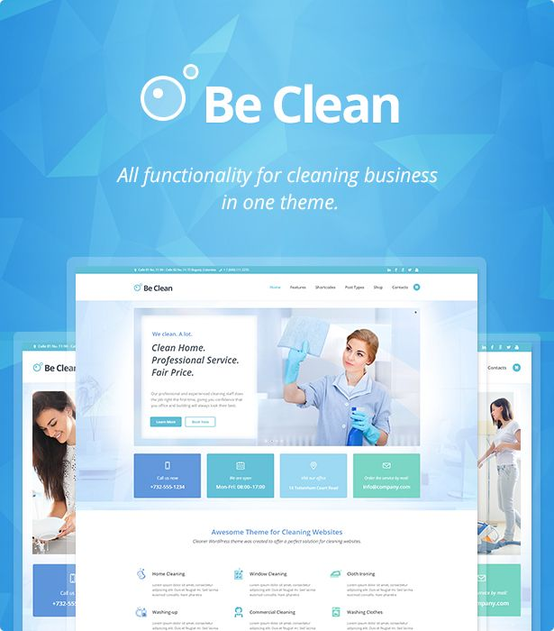 A Cleaning Company, Maid Service And Laundry WordPress Theme Is A All In