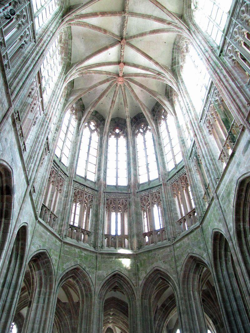 Abbaye du Mont-Saint-Michel - Intérieur de l\'abbatiale. | Mont Saint ...