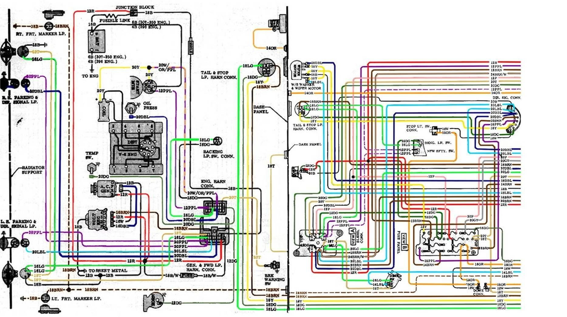 67 72 Chevy Wiring Diagram Intended For 1972 Chevy Truck Wiring