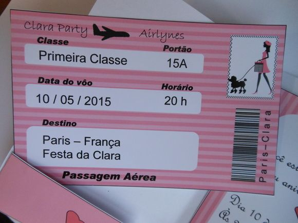 Convite Passaporte Paris Convites Passaporte Convite De