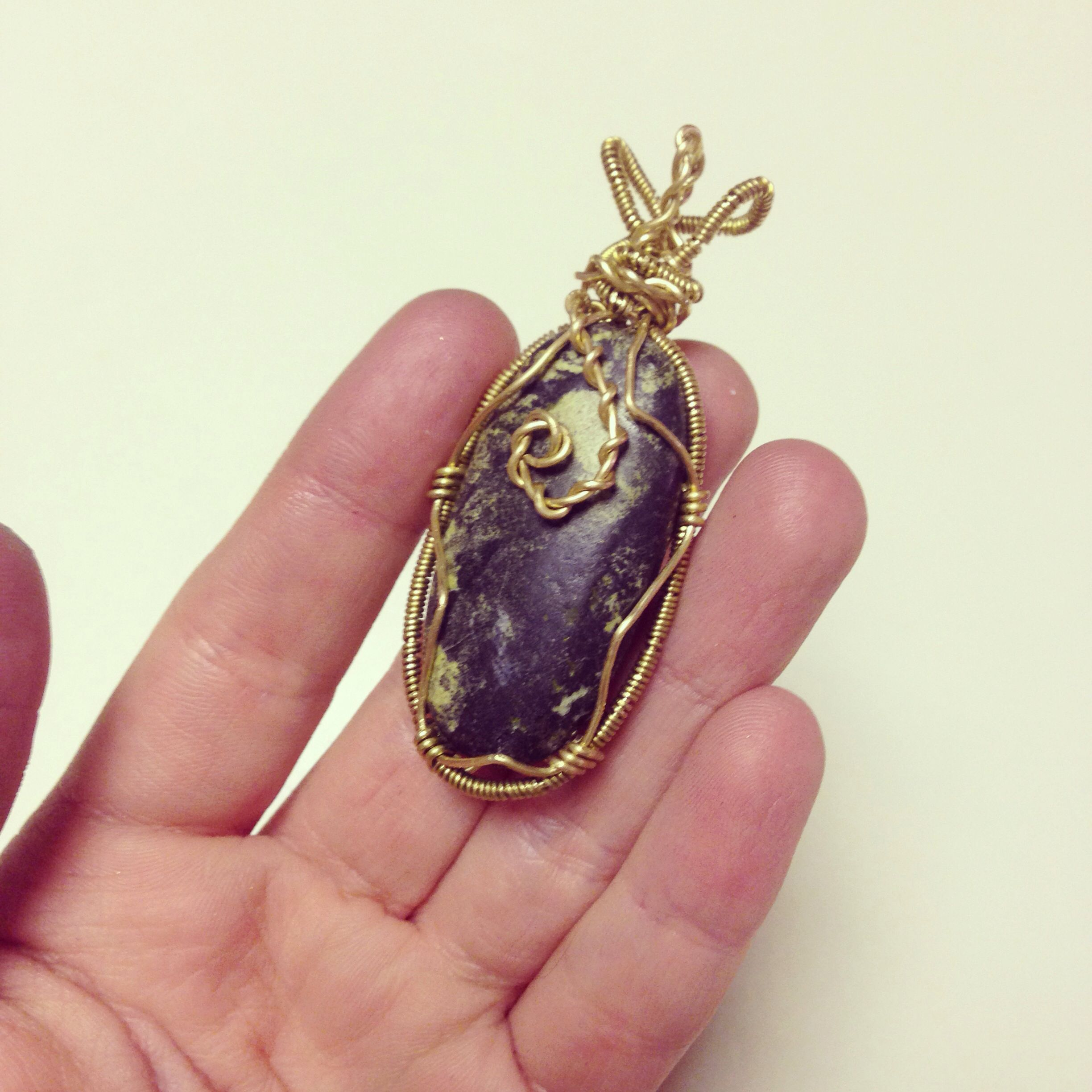 Hand wire wrapped stone pendant | Rings and Things | Pinterest ...