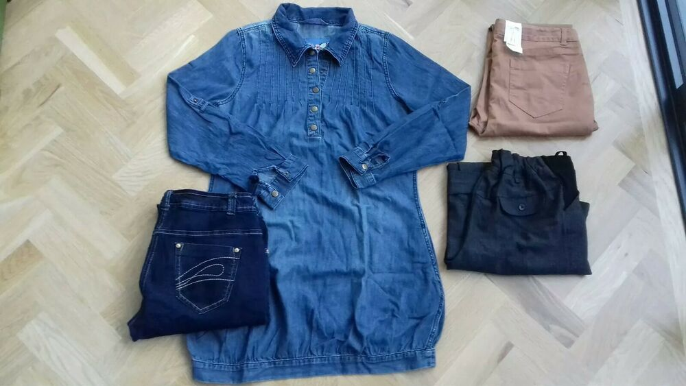 2659692e562 New   used job lot maternity wear size 10 jeans office trousers denim smock  cool  fashion  clothing  shoes  accessories  womensclothing  maternity  (ebay ...