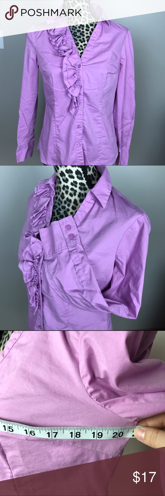The Limited Size m S Button Down Shirt ruffle Great used condition The Limited Tops Button Down Shirts
