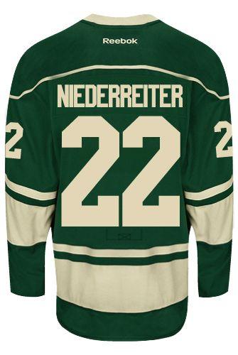 8c3dc7dd8 Minnesota Wild Nino NIEDERREITER  22 Official Third Reebok Premier Replica NHL  Hockey Jersey (HAND SEWN CUSTOMIZATION)