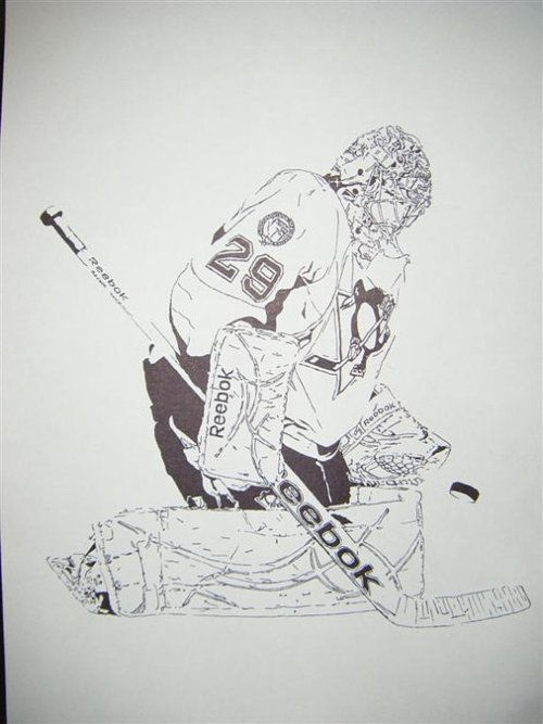 Marc-Andre Fleury drawing (With images) | Penguins hockey