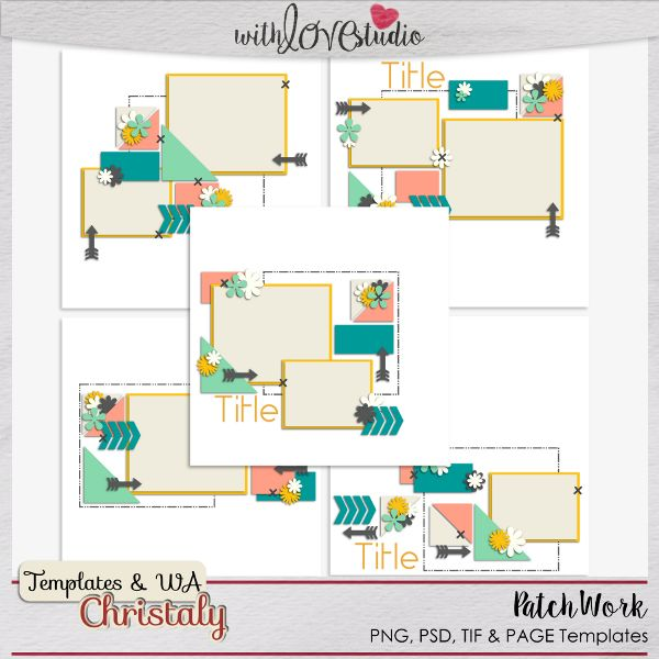 Patchwork - Templates: Christaly http://withlovestudio.net/shop ...